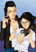 cop and girl by cgtang