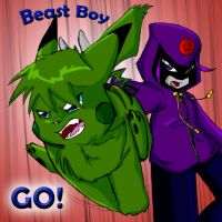 Raven_Beast Boy- Game On by WhiteRaven4