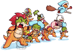 Koopa Royal Family, GO by SelanPike