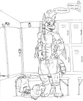 Me at a Changeroom by Flameydragwasp
