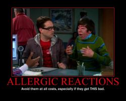 Allergic Reactions Demotivator by QuantumInnovator