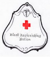 Blood Replenishing Potion Label by Bwabbit