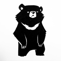 Moon Bear by thedoodledare