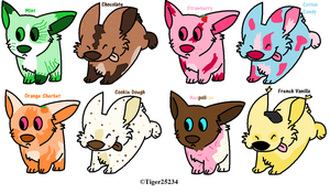Ice Cream puppy adoptables- CLOSED by LexiDog01