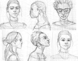Some Latest Face Studies by KoGo6