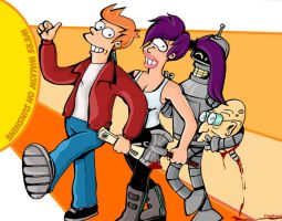 Futurama- Walkin on Sunshine by femjesse