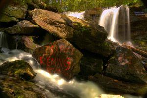 Lake Rolland's Waterfalls HDR by digswolf