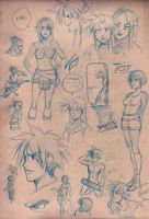 Sketchbook DB doodles by luniara