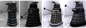Blender Daleks WIP by Librarian-bot