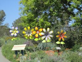 Giant Fake Flowers Stock by chamberstock