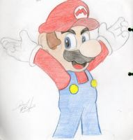 It's-a me Mario by Yoshidrawer32