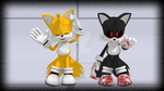 MMD Tails  EXE and Tails power by Blackrabbit1234