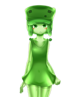 minecraft mob: small slime (shy) by patrickwright15