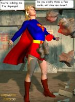 Supergirl Red K Surprise by CaptainZammo