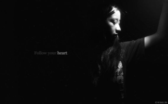 Follow your heart - BW Photography by Kimchan1412