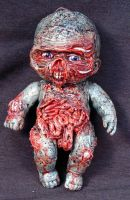 ROT TOT Little Eddy Zombie Baby OOAK Walking Dead by Undead-Art