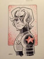 Winter Soldier inktober by BillWalko