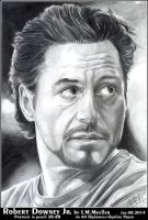 Robert Downey Jr. by I.M.Mueller more shadows by honeylips1