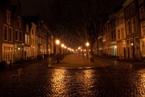 Leiden at Night by Swaal