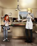 Commission_Kiss the cook by sbel02