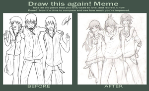Draw this Again: 30-11-2011 (vs) 25-4-2013 by Guille300