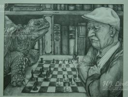 The Tortoise and the Old Man by artistkitty88