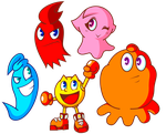Pac-Man and Ghost Monsters by JamesmanTheRegenold