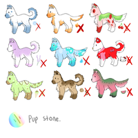 Pupadoof Adoptable Set 1 .: CLOSED :. by cloudsnstuff