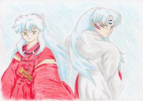 InuYasha and Sesshomaru by JamieWardley