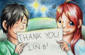 Thank you, LIN.B! by Zeliga