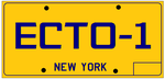 Ecto 1 License Plate by bagera3005