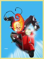 GHOST RIDER.... vespa? by m7781