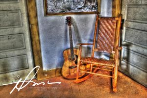 Chair and Guitar 2 by kings-ransom