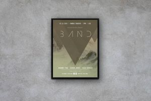 Geometric Concert Flyer / Poster by macrochromatic