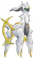 Arceus, the Creator Pokemon by Xous54