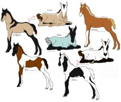 Foals for Royalmare by Furyaun