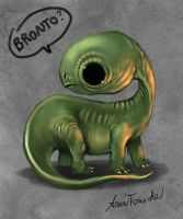 brontosaurus sketch by super-ania