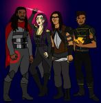 Bishop, Blink, Warpath and Sunspot by tapwater86