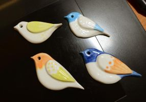 Ceramic birds by pikaole