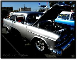 Silver Vintage Chevy by MariaWillhelm