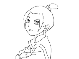 Little Azula lineart by KindGenius