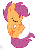 Scootaloo's Snuggly Soft Stuffed Shell by FacelessJr
