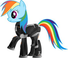 Rainbow Dash in Nanosuit by TechX12