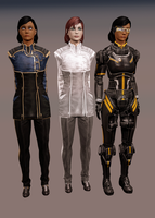 Sam Admiral, Femshep White Admiral, Sam Armor by TheRaiderInside