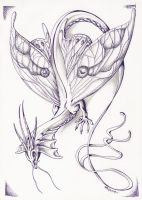 Insectoid faerie dragon by GreenLadyMonster