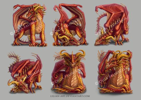 characters for My Dragon game 2 by Lilian-art