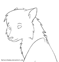 Free Wolf Lineart by Behrooze