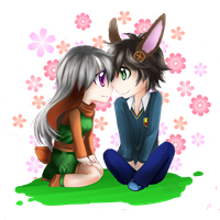 Chibi Comission Alice and Bradley by SerinaChan