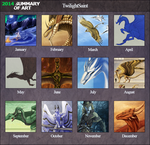 Personal - 2014 Art Summary by TwilightSaint