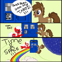 Pepsi and Doctor: Grab My TARDIS by DocterWhoovesFan
